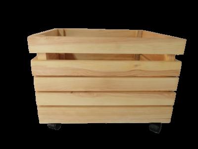 Skrzynka drewniany na kółkach