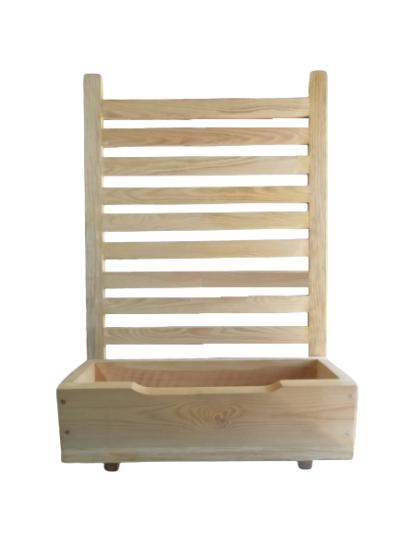 Donica drewniana z pergolą